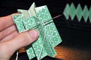 choinka ręcznie robiona łączenie boków