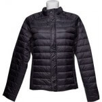 pikowana kurtka czarna