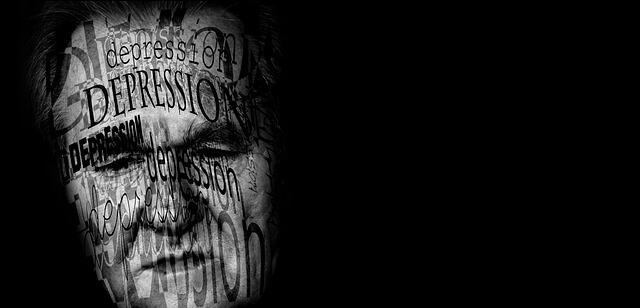 twarz mężczyzny depresja pomoc psychodermatologa