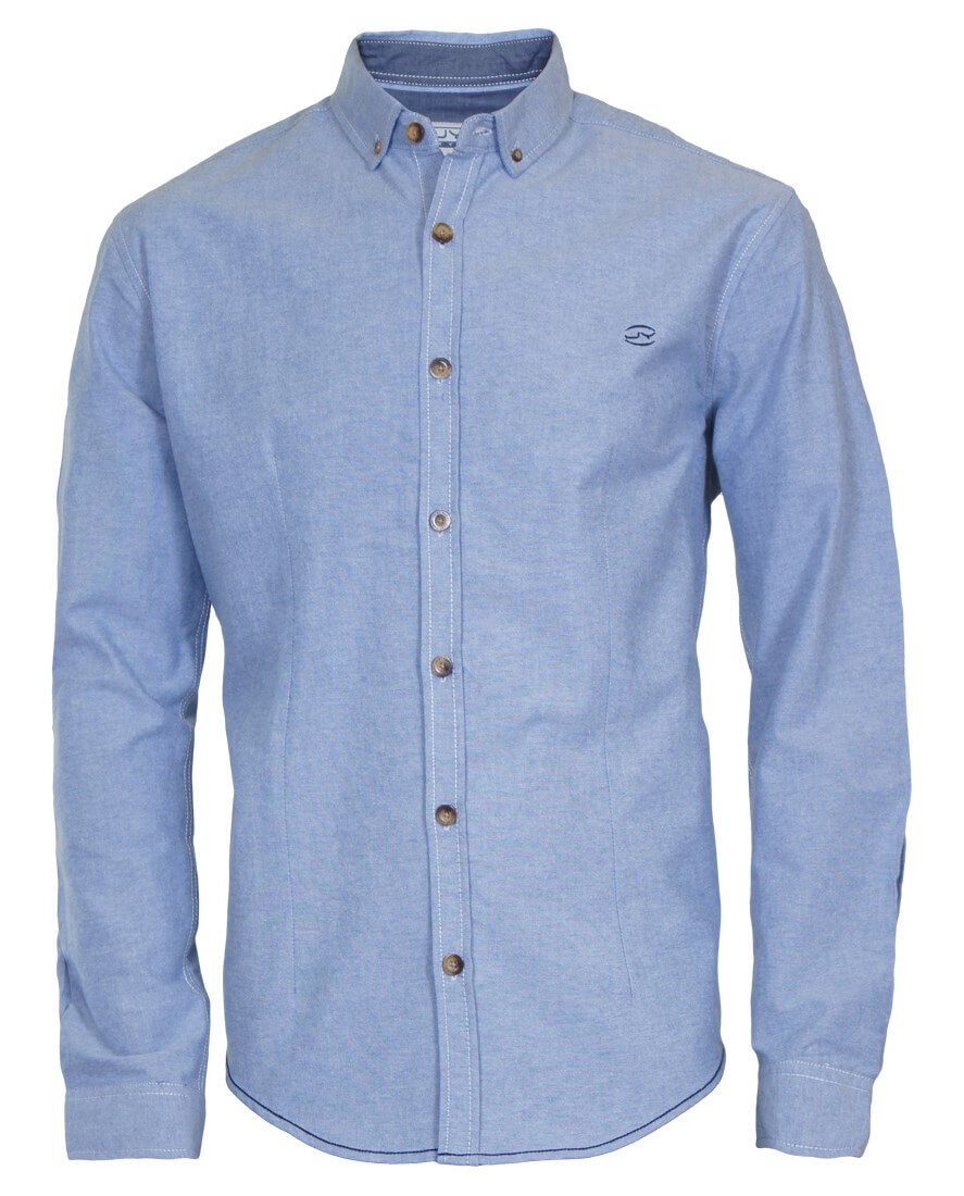 męska niebieska koszula