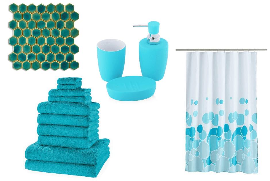 Dodatki do mieszkania w kolorze turkusowym