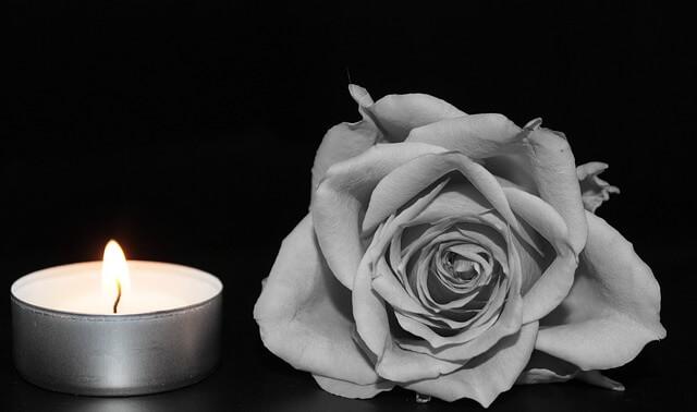 Róża i świeca
