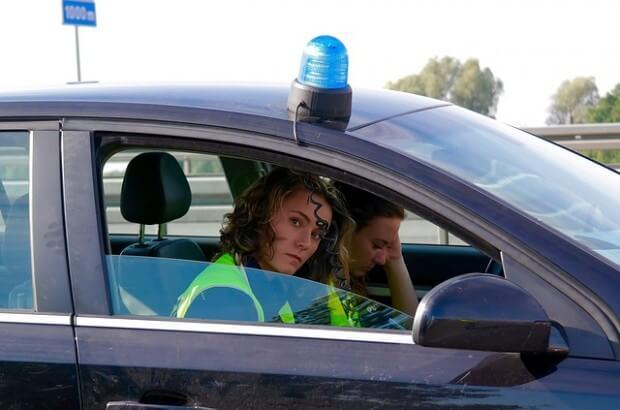 policjantki w aucie