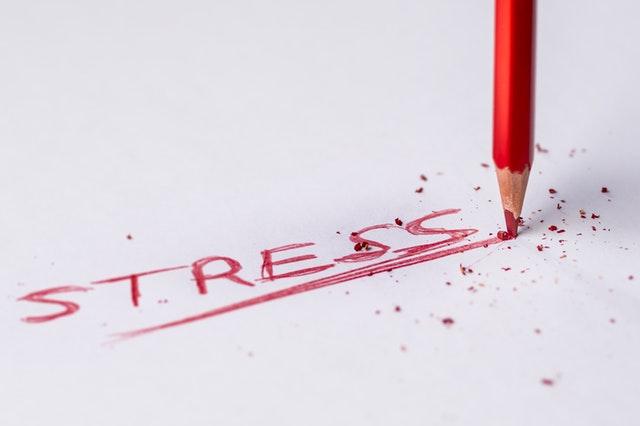 Kartka z napisem stres
