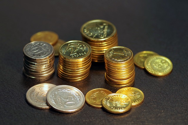 Monety o różnych nominałach